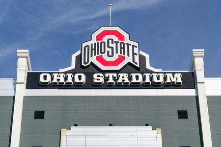 COLUMBUS, OH/USA - OCTOBER 21, 2017: Ohio Stadium on the campus of The Ohio State University.