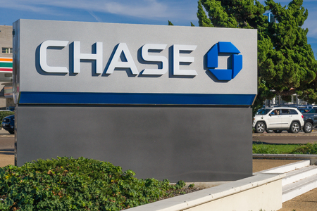 LA JOLLA, CAUSA - JANUARY 13, 2018:  Chase Bank exterior. Chase is a consumer and commercial banking subsidiary of the multinational banking corporation JPMorgan Chase.