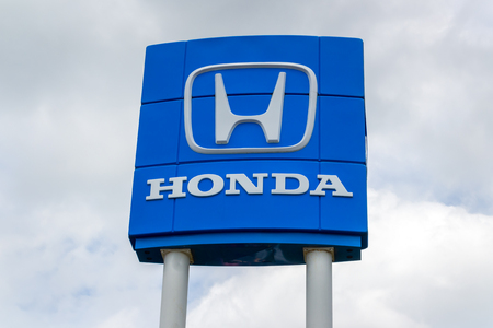 INVER GROVE HEIGHTS, MN/USA - JUNE 17, 2018: Honda autombile dealership exterior and trademark logo.