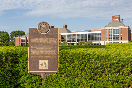 URBANA, ILUSA - JUNE 2, 2018: Morrow Plots and  Carl R. Woese Institute  on the campus of the University of Illinois at Urbana–Champaign.