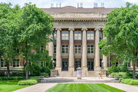 MINNEAPOLIS, MN/USA - JUNE 28, 2018: Smith Hall School of Chemistry on  the east bank of the University of Minnesota. Editorial