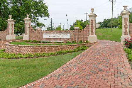 COLUMBIA, SC/USA JUNE 5, 2018: University of South Carolina Athletics Village entrance on the campus of the University of South Carolina.