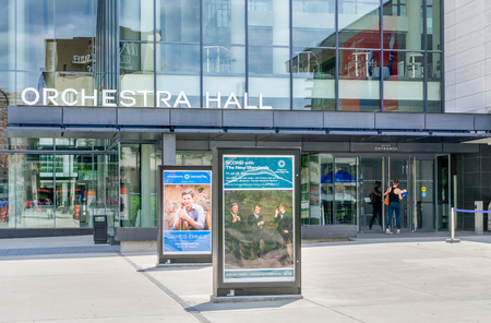 MINNEAPOLIS, MNUSA - JUNE 30, 2018: Orchestra Hall in downtown Minneapolis and home to the Minnesota Orchestra.