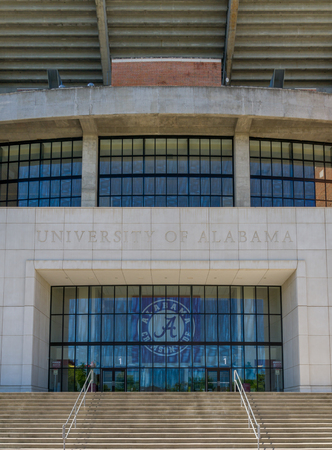 TUSCALOOSA, AL/USA - JUNE 6, 2018: Bryant-Denny Stadium on the campus of University of Alabama.