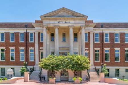 TUSCALOOSA, ALUSA - JUNE 6, 2018: Nott Hall on the campus of University of Alabama.