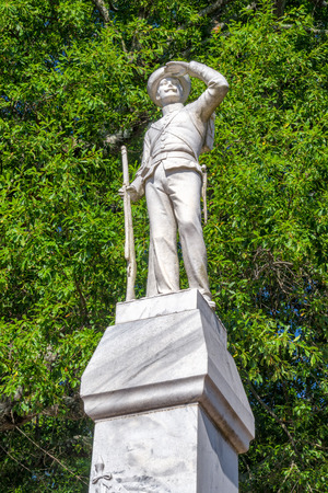 OXFORD, MSUSA - JUNE 7, 2018: Confederate soldier monument on the campus of the University of Mississippi. Editorial