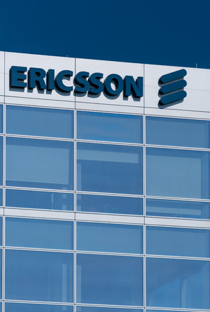 SANTA CLARA, CA/USA - OCTOBER 20, 2018: Ericsson Corporation Silicon Valley headquarters. Ericsson is a networking and telecommunications company.