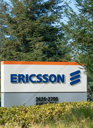 SANTA CLARA, CAUSA - OCTOBER 20, 2018: Ericsson Corporation Silicon Valley headquarters. Ericsson is a networking and telecommunications company. Editorial