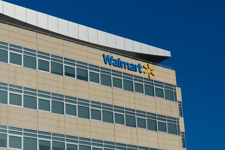 SAN FRANCISCO, CA/USA - OCTOBER 21, 2018: Walmart Regional Headquarters office building and trademark logo.