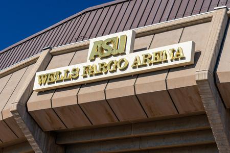 TEMPE, AZ/USA - APRIL 10, 2019:Wells Fargo Arena on the campus of Arizona State University.