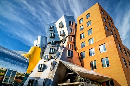 CAMBRIDGE, MAUSA - SEPTEMBER 29, 2019: The Ray and Maria Stata Center on the campus of the Massachusetts Institute of Technology.