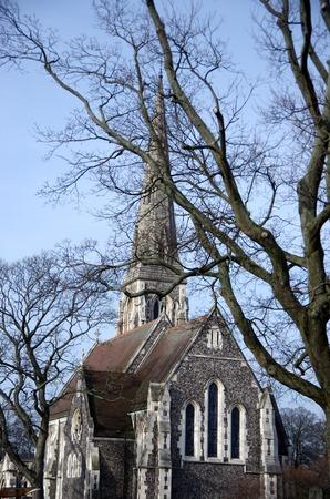 copenhagen: Church in Copenhagen Stock Photo