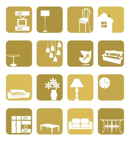 Household Interior ornaments set Stock Vector - 9664769