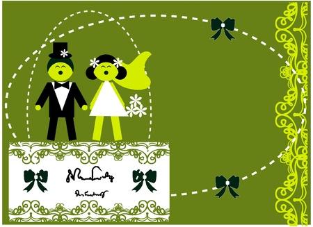 Amore matrimonio invito Vettoriali