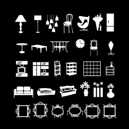 furniture signs. Illustration