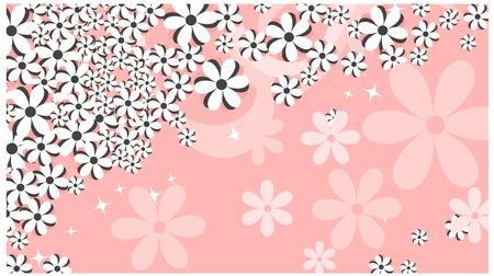 background, flower, stars beautiful white spring marguerite against background Illustration