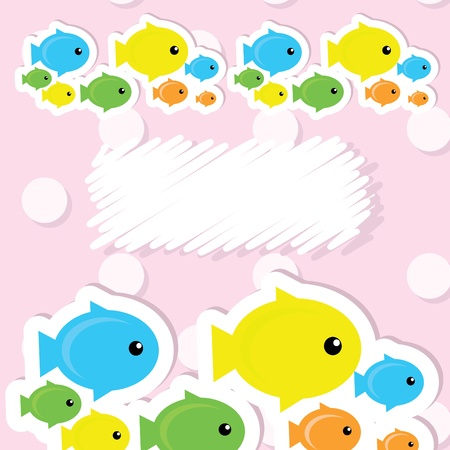 card with fish Vector
