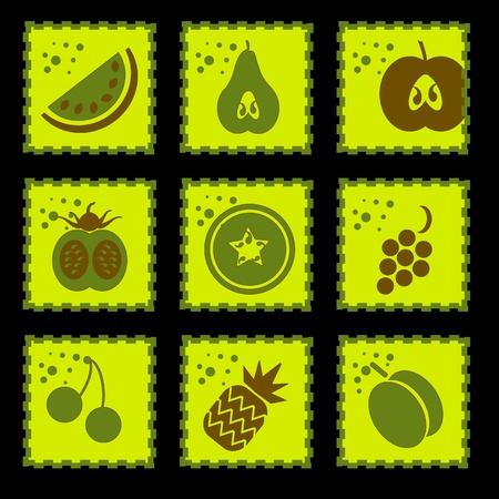 Timbro Fruits Collection - Set di vari elementi di Design di frutta