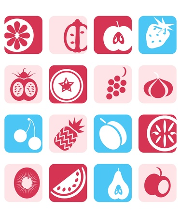 Fruit icon set Stock Vector - 9884955