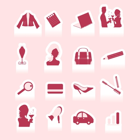 Woman in business - vector cutting sticker Illustration