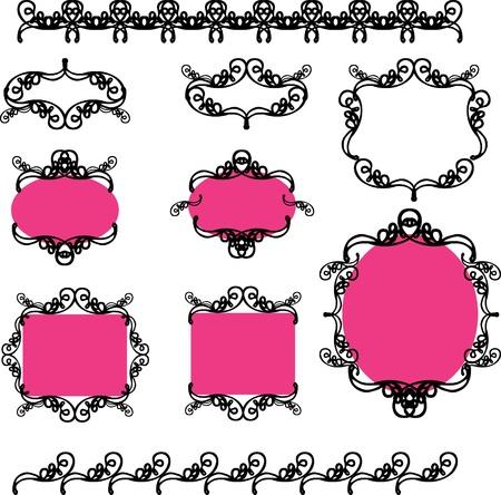 Raccolta di elementi di design del telaio e le icone