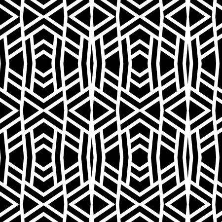 wattled: Abstract borders pattern seamless tattoo Stock Photo
