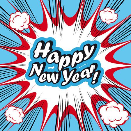 twenty thirteen: Pop Art explosion Background Happy New Year!