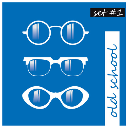 potter: set of oldschool glasses silhouette