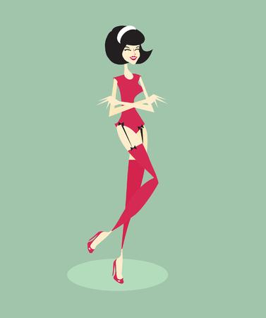 pinup: Cute Pin-Up Girl retro