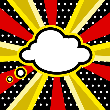 cartoon bomb: Boom, Pop art inspired illustration of a explosion cloud Stock Photo
