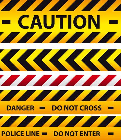 Vorsicht, Gefahr und Absperrband