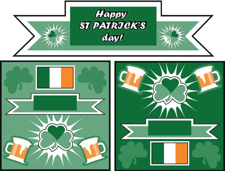 irish beer label: design collection St. Patricks Day Greeting Cards