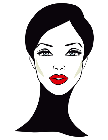 retro woman: Retro Woman - Retro Clip Art Stock Photo