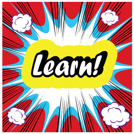 key words art: Learn background Learning Concept boom stamp template