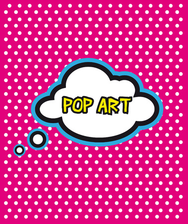 composition art: Pop Art cloud bubble on dot background