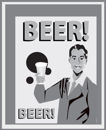unbottled: Man with drink background