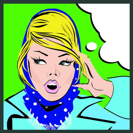 homemaker: Pop art woman background