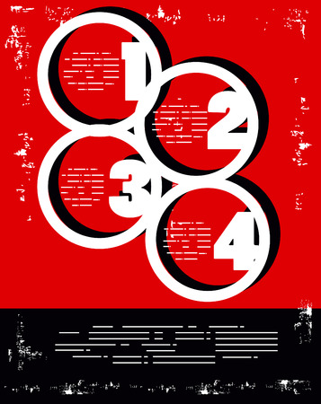 numbering: Red and Black numbers colors poster