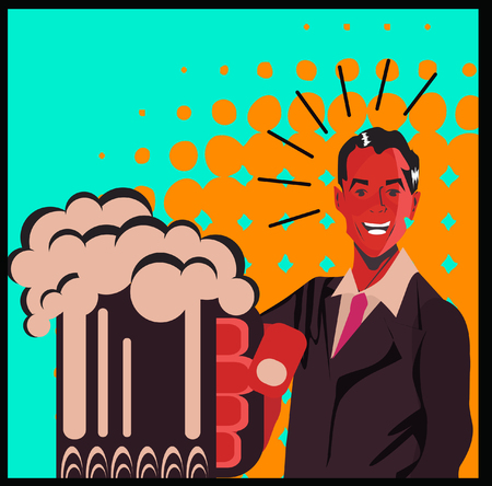 40s: Man With Beer poster