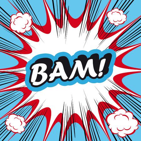 bam: Pop Art explosion Background Bam! Stock Photo