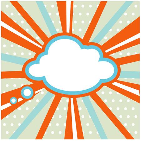 Boom, Pop art inspired illustration of a explosion cloud Stockfoto
