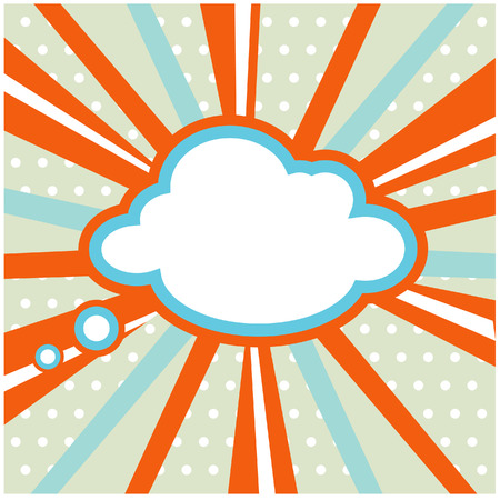 poster art: Boom, Pop art inspired illustration of a explosion cloud Stock Photo