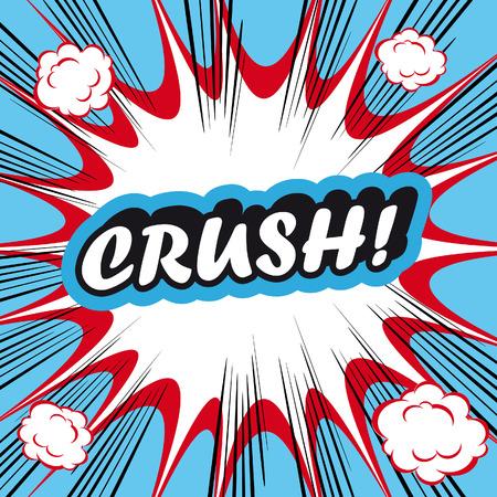 crunch: Pop Art explosion Background crush! Stock Photo