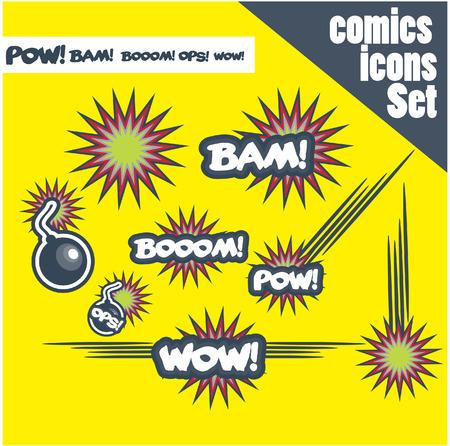 nuke: comic book style bombs boom bam wow pow ops  explode