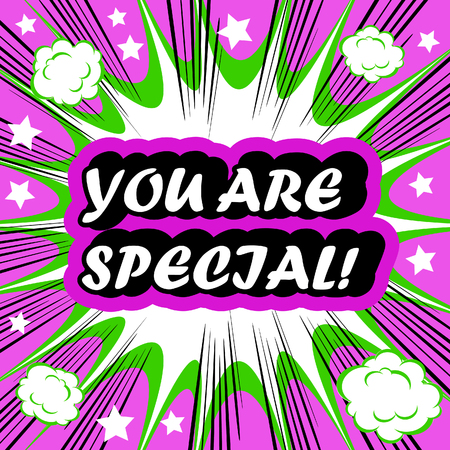 you are special: You Are Special! card banner tag background