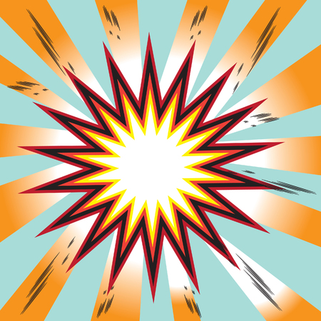 explosion comic book background Stock Photo