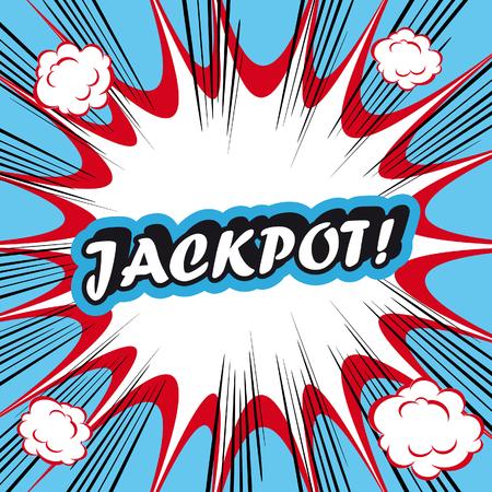 bingo: Arte pop de fondo explosión bote!