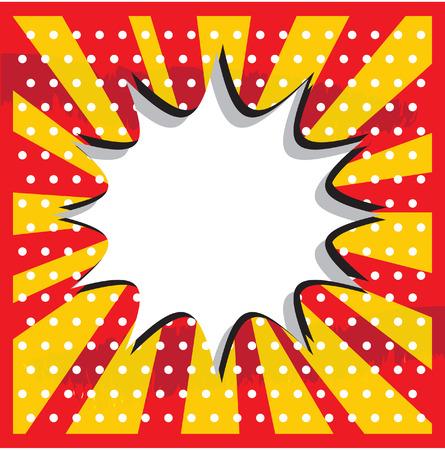 pop art background: Boom pop art cloud on a vintage grunge  background sticker Stock Photo
