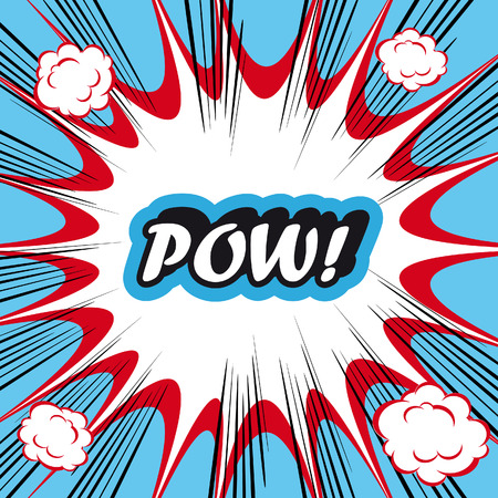pow: Pop Art explosion Background Pow!