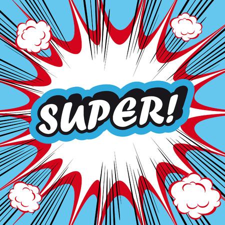 lichtenstein: Pop Art explosion Background Super! Stock Photo